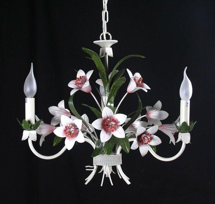 lampadario stile country : stile country fiori in metallo home lampadario illuminazione-Lampadari ...