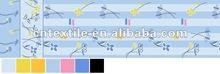 100% polyster fabric blue Stripe floret printed pattern