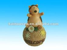 OEM resin hedgehog with base