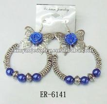 fashion butterfly hoop earring