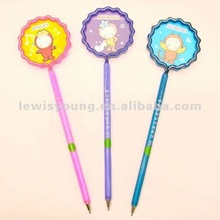Colorful shaped cute cartoon ball pen as promotional gifts