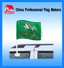 Outdoor polyester promotional custom sport car window flag
