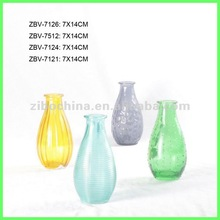 Machinemade color sprayed decorative round glassware for hotels