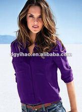 Long sleeve Women Silk shirts