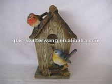 Promotional resin birdhouse garden decoration