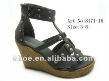 2012 wedge heel shoes ladies fancy sandal