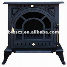 cast iron fireplace and stove