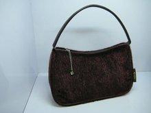 2012 hot sale designer high quality velvet bag with handle