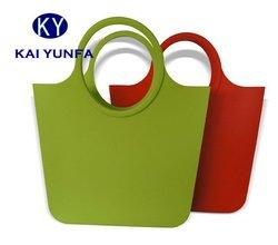 Creative silicone rubber handbag for shopping