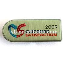 Fashion lapel pin/name tag with bright logo