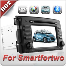 7'' HD Touch Screen double din car dvd navigator for Smart fortwo With Bluetooth & Radio