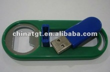 Beer bottle opener usb drive keychain