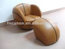 FKS-APR-159 pvc Kids sofa basketball shape sofa
