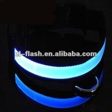 pet dog safety collar led light-up flashing glow in the dark