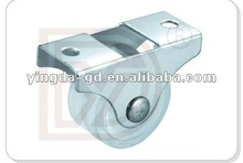 24mm Plastic+rubber small fixed caster wheel