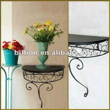 2012 manufacturer Decorative iron crafts flower rack for garden flower wrought iron