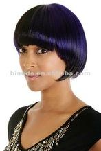 purple high light Bob style Synthetic wig