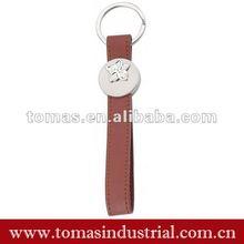 Custom metal leather keychain guangzhou promotion