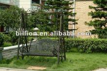 2012 factory wrought iron swing chair for garden decorative beautiful