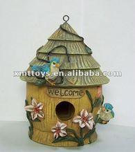 2012 newest resin hanging bird house