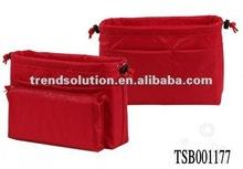 hot sale polyester bag in bag handbag organizer with a zipper pocket