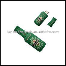 Popular cute beer bottle USB flash 2gb