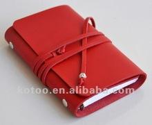 Mini design colorful leather diary