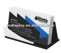 Business Card Holder Black and White Acrylic