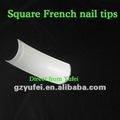 500 pcs acrylique couvrent à demi ongles manucure française/abs matériel de fournisseur chinois