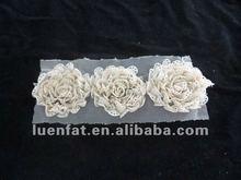 beautiful flower woman lace collar