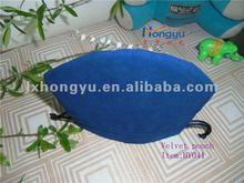 Special designed arc bottom drawstring velvet pouches