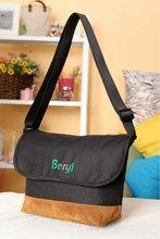 black color new design messenger bag, shoulder bag