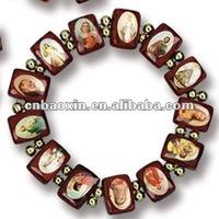 Fashion wood religious bracelet with custom logo