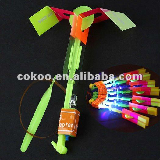 Flying umbrella Space Amazing LED Light Arrow Helicopter