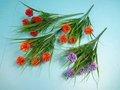 2012 novo design Artificial 5 cabeças mini bola verde flores