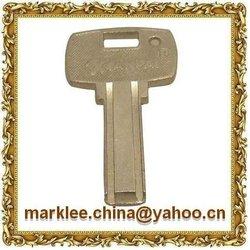 Round barrel lock key lock