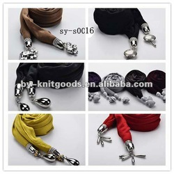 2012 the new design pendant scarves with decorations