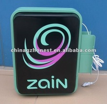 Zain Acrylic illuminated sign box