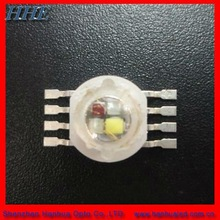 2012 hot sale 12w rgbw high power led with 8pns (4 in 1)