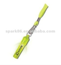 Orange Glow in the Dark LED whistles with Lanyards and Sticker for Night Sprort Running Event