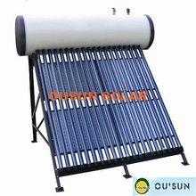 Compact Pressurized vacuum tube heat pipe suntask solar collector