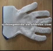 100% jersey nitrile working gloves with safety cuff smooth finish