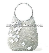 2012 Fashion ladies Handbags PVC Fabrics Hand Woven Bags with Real Leather Lining