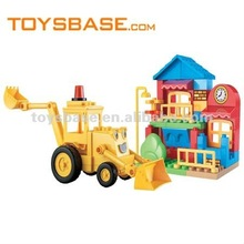2012 building blocks electric tractor toy