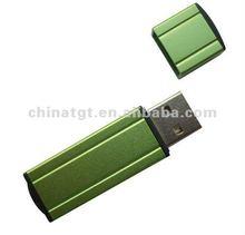 Green USB pen drive metal 8gb