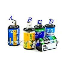 2012 new arrival novelty color roll film usb flash drive 1gb/2gb/4gb/8gb/16gb/32gb