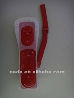 For Nintendo Wii 2in1 remote built-in motion plus controller with silicone sleeve and strap red color