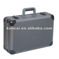 Gun-color Aluminum Custom Case,Aluminum Tool Boxes & Carrying Case,aluminum storage case with Big aluminum Frame,
