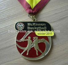 2011 Baseketball metal medal