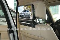 9'' Car Headrest Entertainment System DVD, USB, SD, GAME, IR, FM